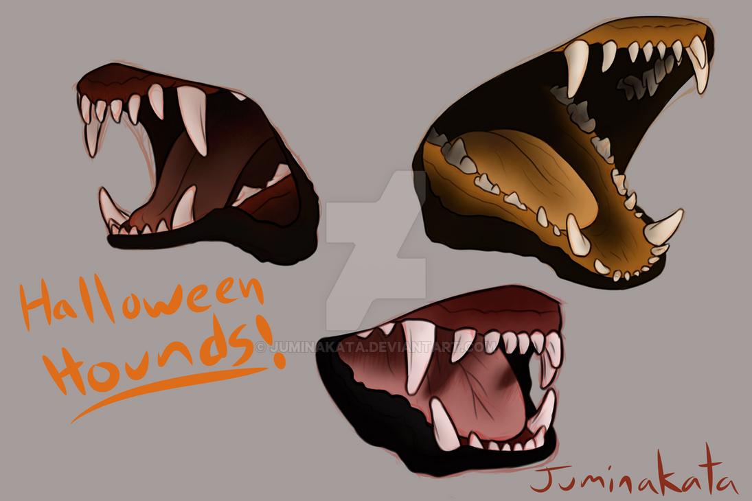 Halloween Hound Mouths by Juminakata