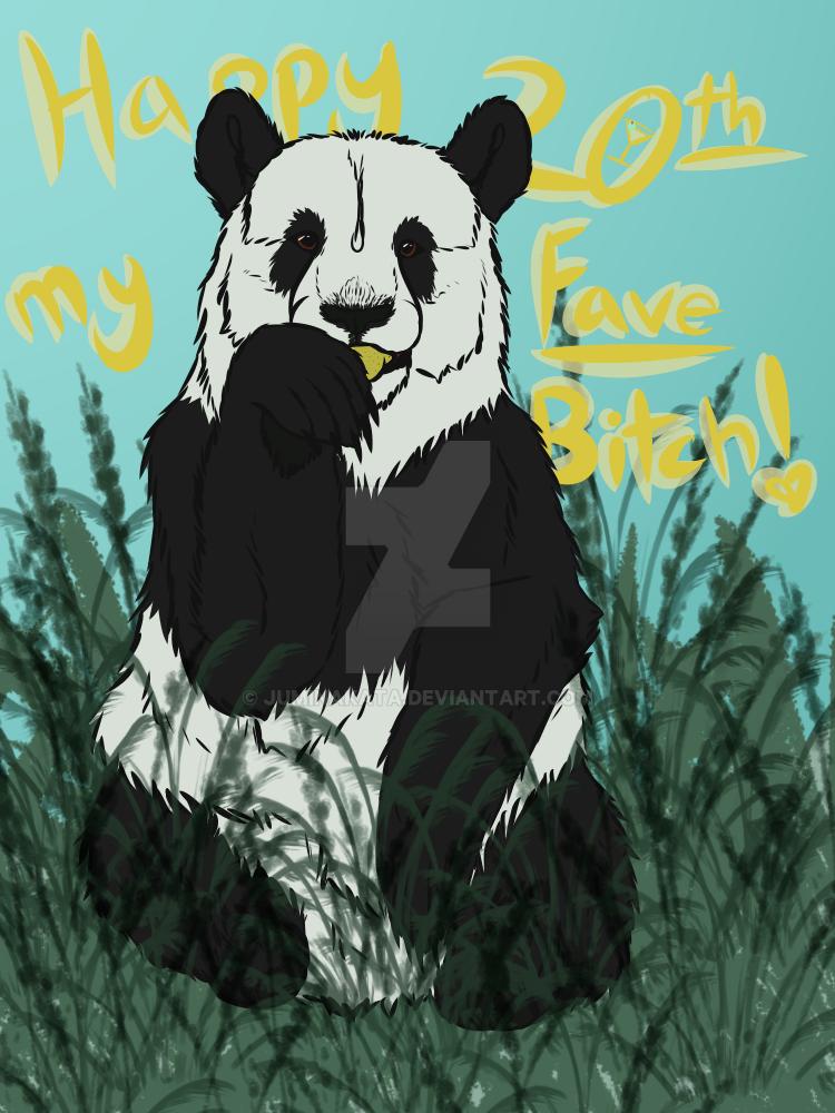 Birthday Art for Panda by Juminakata