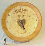 Grape leaf face clock