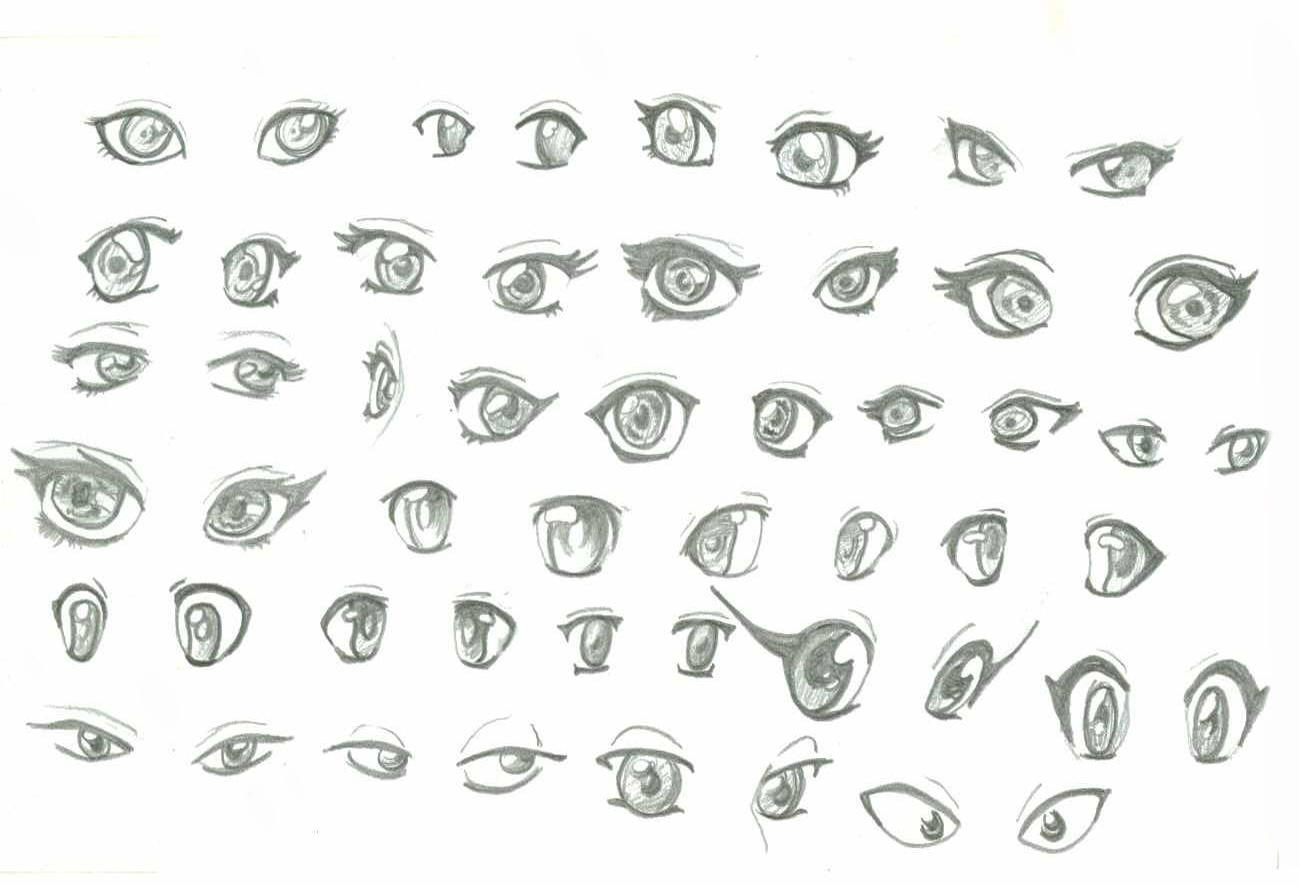 Pictures Of How To Draw Anime Eyes Female Cute Rock Cafe