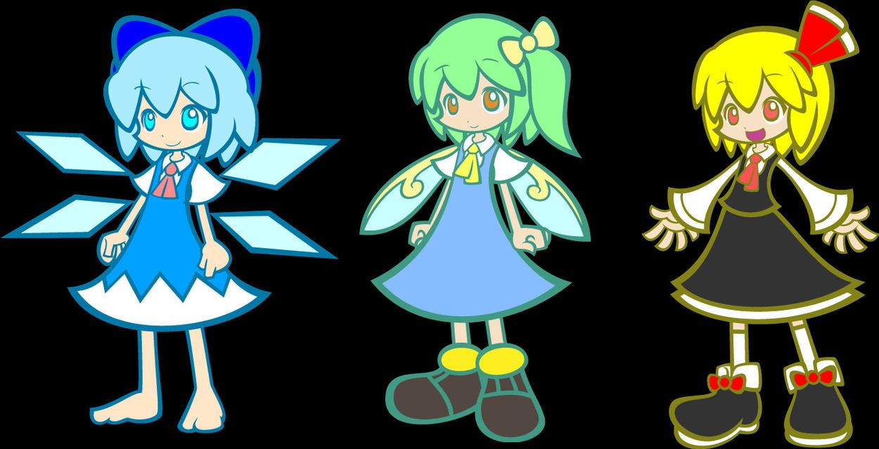 EoSD Cirno, Daiyosei and Rumia by Trapstar6139