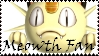 Brawl: Meowth Fan Stamp by WolfTwilight