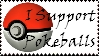 Brawl: Support Pokeballs Stamp by WolfTwilight