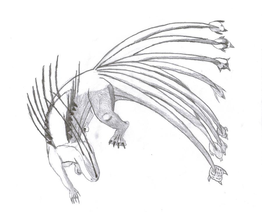 Unoraptormon- Ninetailed form