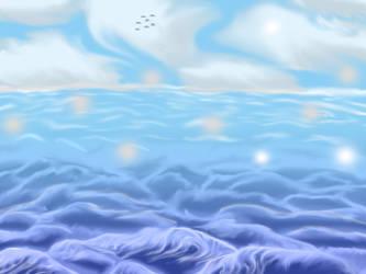 Ocean scene by Unoraptormon