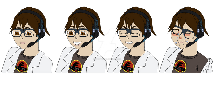 COMMISSION: 4 reaction icons, flat color