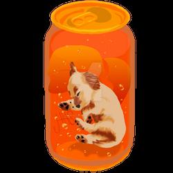 Soda Pup: Golden Retriever - Orange