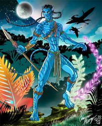 Avatar: Jake Sully-Na'vi by Boy-Meets-Hero