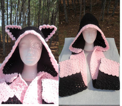 Kitty Rose Hooded Scarf Form