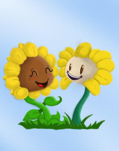 Sunflower and flowey by Freddyfazbear99 on DeviantArt