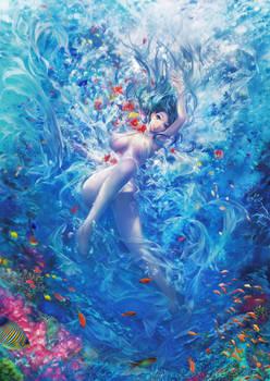 blue coral reef