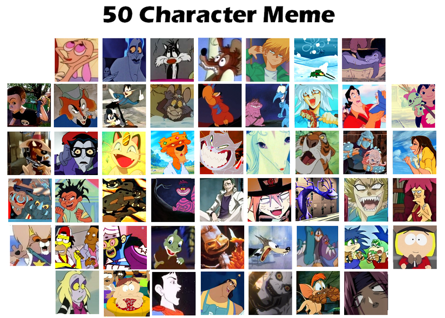 Cartoon Characters Meme By Coffeebandit On Deviantart