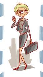 business woman by coffeebandit