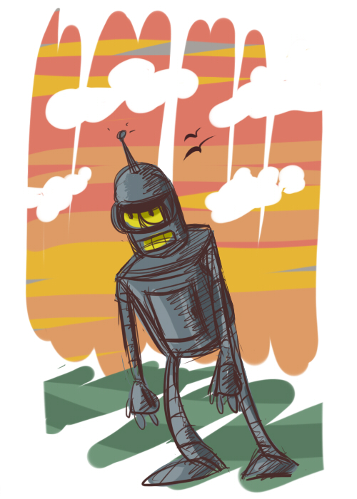 wanderin robot by coffeebandit