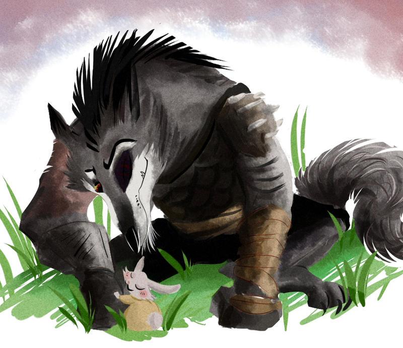 hug for the wolf boss by coffeebandit