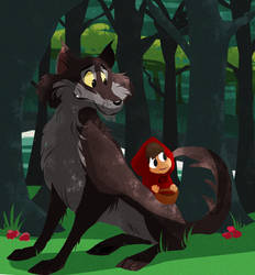 miss red and wolf by coffeebandit