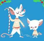 christmas lab mice