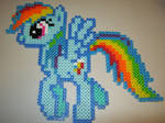 My little pony Rainbow Dash perler bead