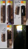 Perler bead 3-D Minecraft torch