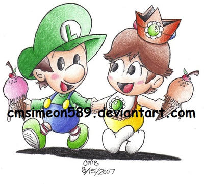baby daisy and baby luigi by cmdixon589