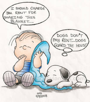 Sleeping Linus and Snoopy by cmdixon589