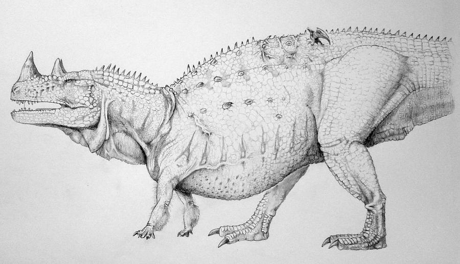 Quadrupedal ceratosaur? by KajeJenson on DeviantArt