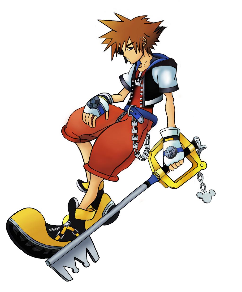 Kingdom Hearts Sora Sketch Digitally Colored By