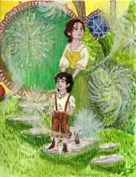 Fem!Bilbo: Gandalf's fireworks display. by WolfWarrior9
