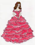 Fashion design: Raindrops on a Rose Gown.