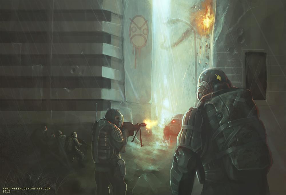 Combat 2 by ProxyGreen