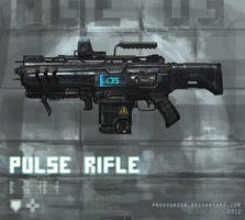 Pulse rifle weapon concept