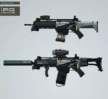 Police gun concept