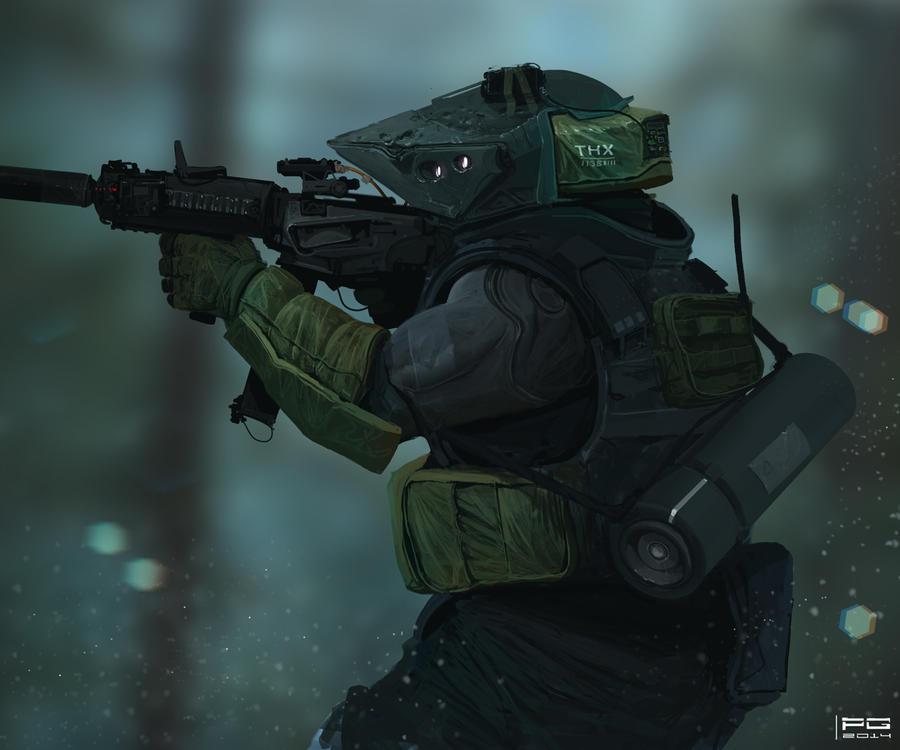 Cyber trooper X by ProxyGreen