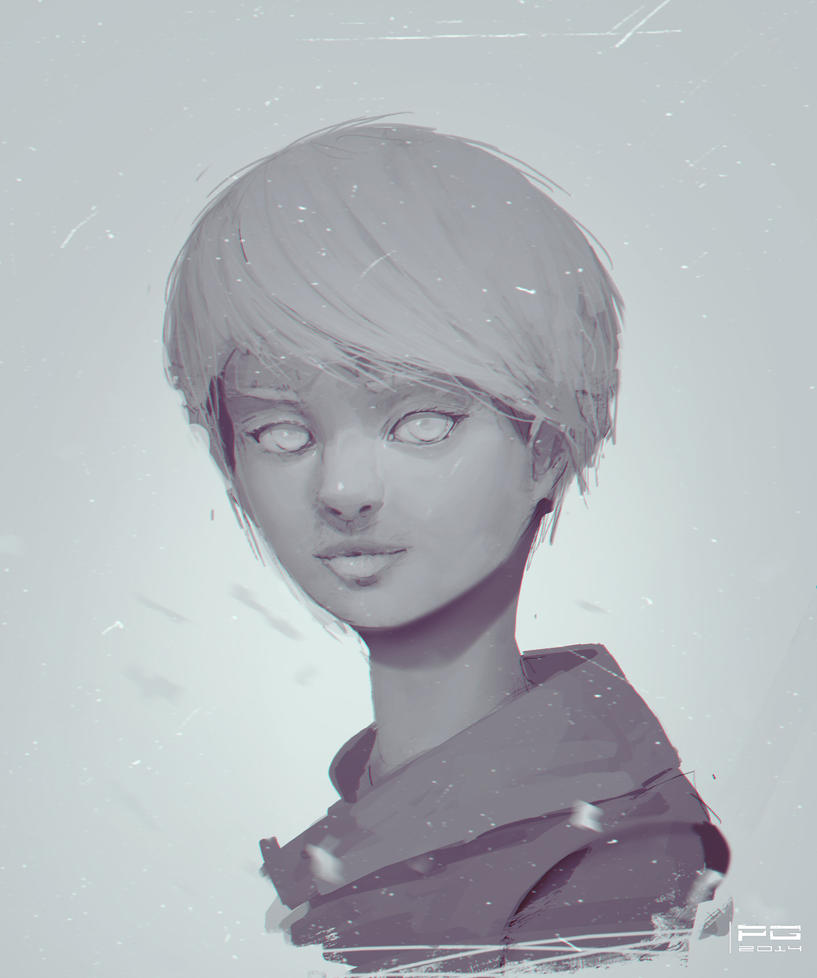Girl sketch by ProxyGreen