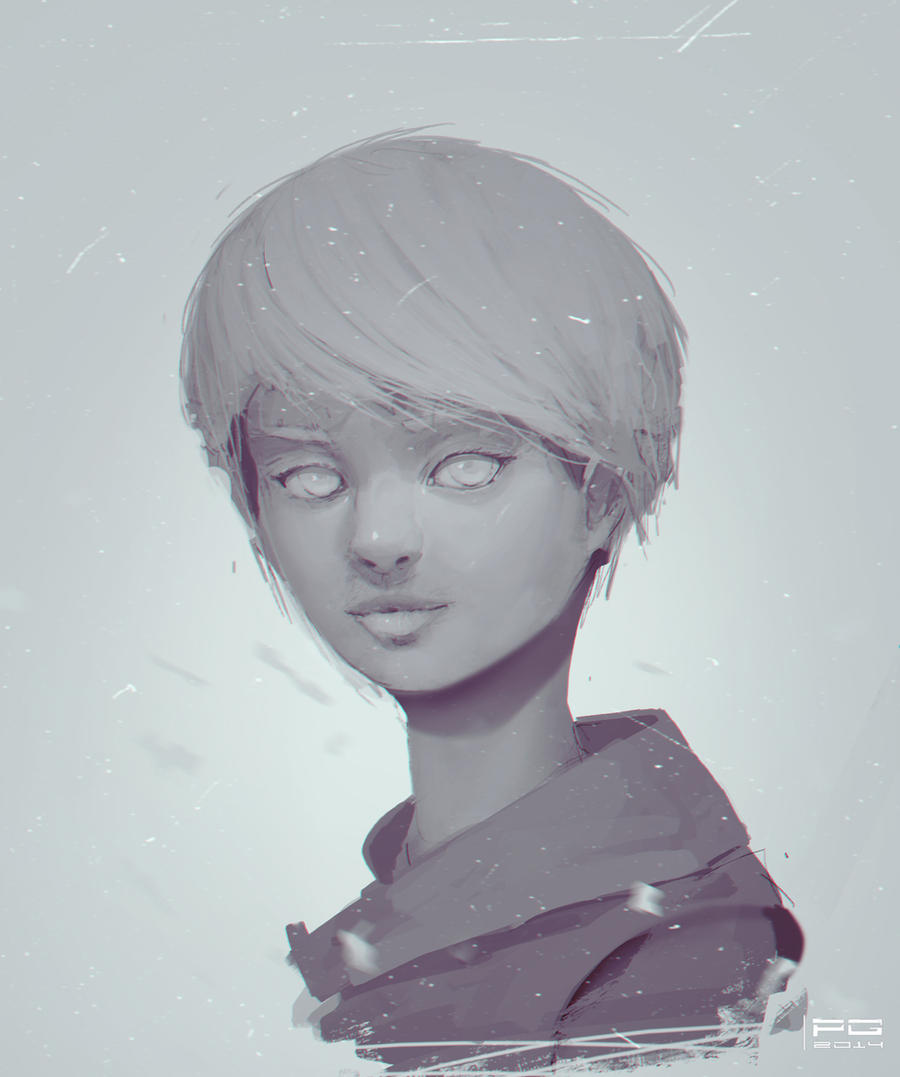 Girl sketch by ProxyGreen