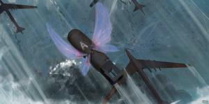 Flight to monster land