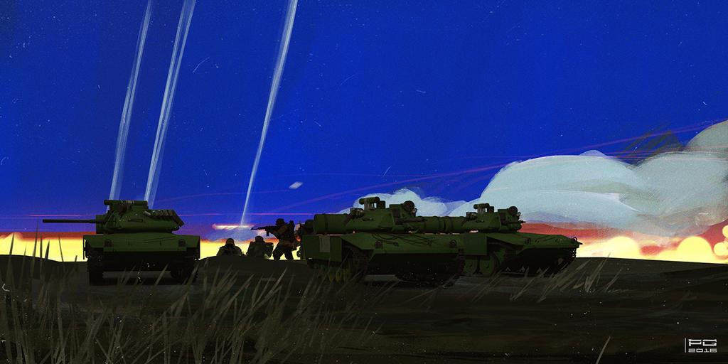 Night fight by ProxyGreen