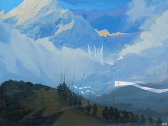 Misty Mountains by ProxyGreen