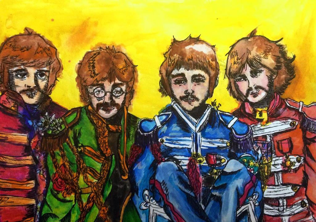 Beatles watercolor by dearestlove101