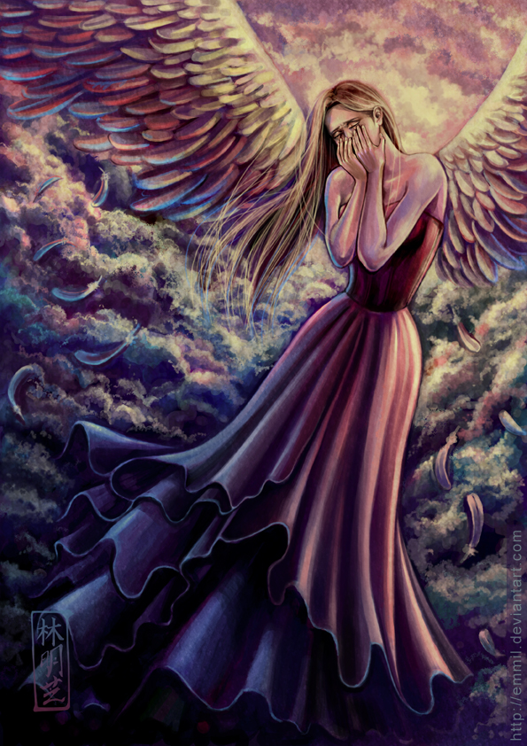 For sale crying angel by art adoption on deviantart for Angel paintings for sale