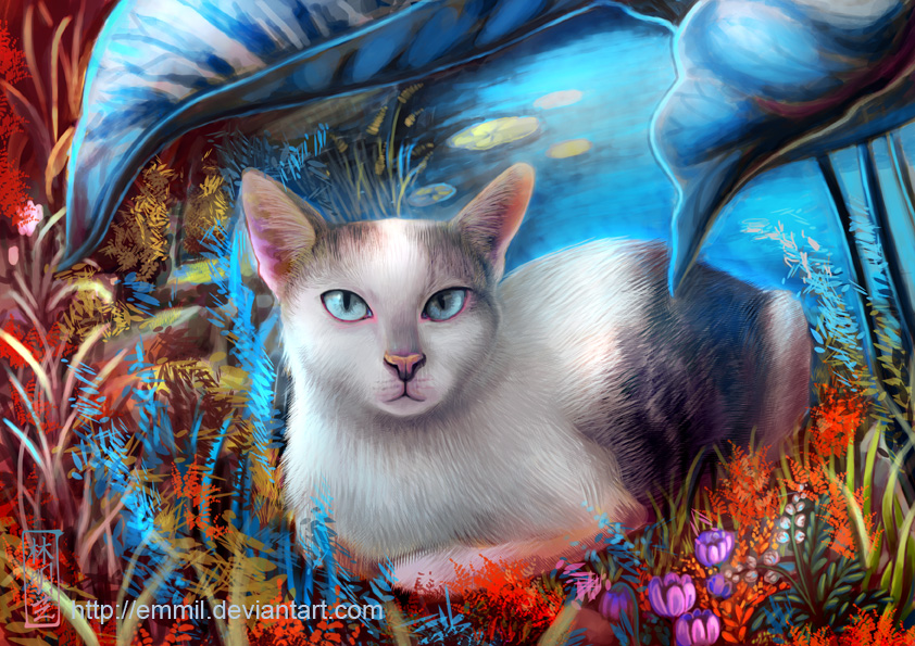 FOR SALE! Cat at the lake by art-adoption