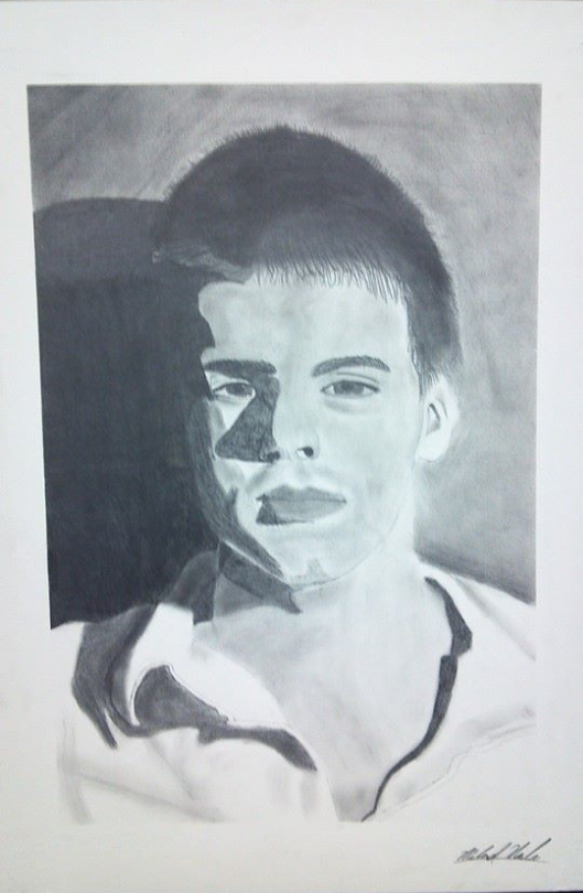 Beginning Drawing - Self portrait by M-Rehe