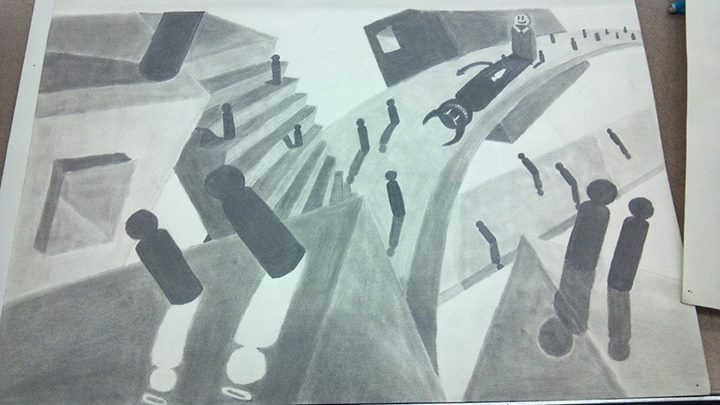 Intermidiate Drawing - False Shadows by M-Rehe