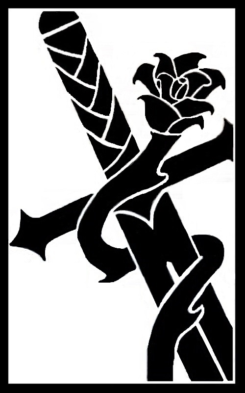 A Rose rose upon the sword - digital version by M-Rehe