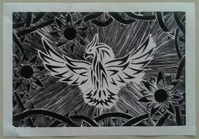Lino Print by M-Rehe
