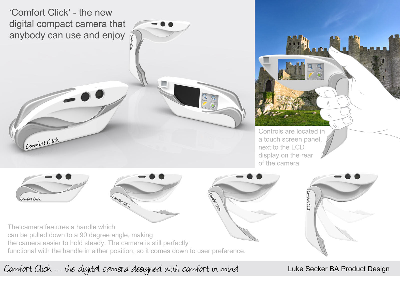 Comfort click digital camera by lvs designs on deviantart for Best industrial design products