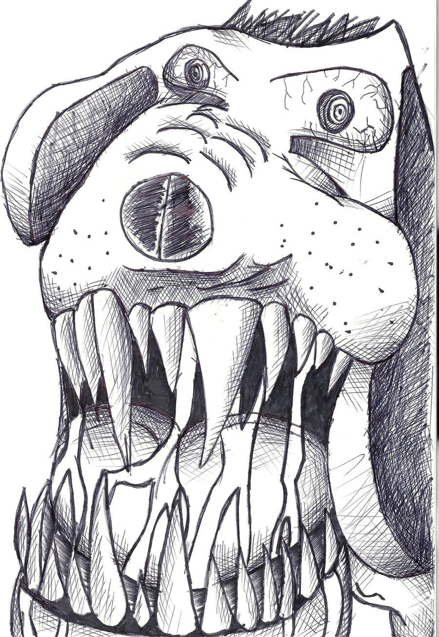 Cute Angry Dog Drawing