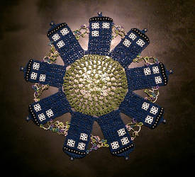 Tatted TARDIS Doily