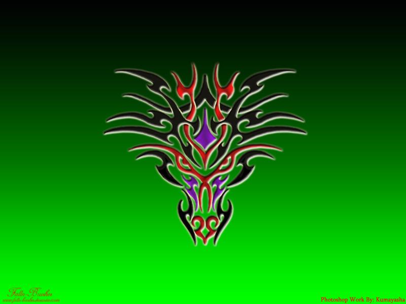 tribal dragon wallpaper by - photo #19