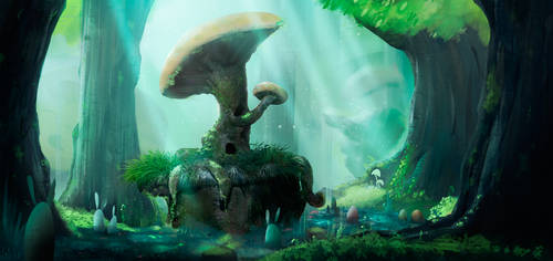 Z's Home - Forest Environment by vicenteNumpaque
